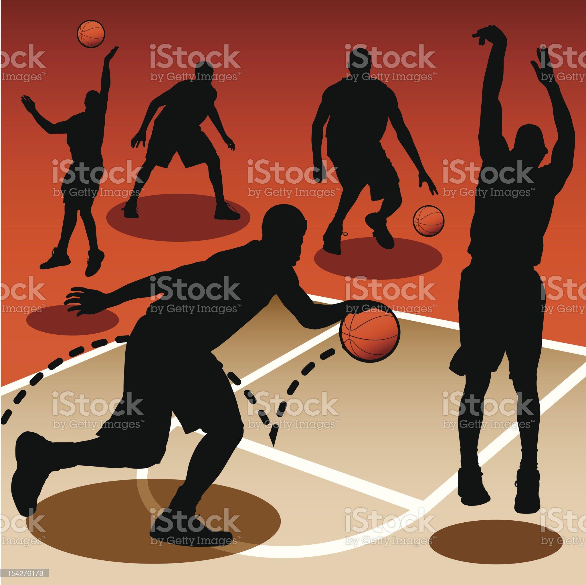 Basketball Players royalty-free stock vector art