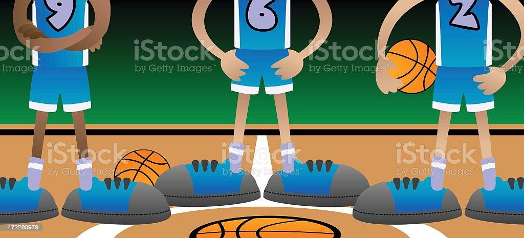 Basketball Players vector art illustration