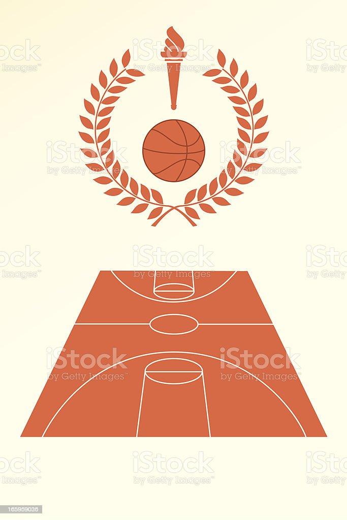 Basketball poster and emblem royalty-free stock vector art