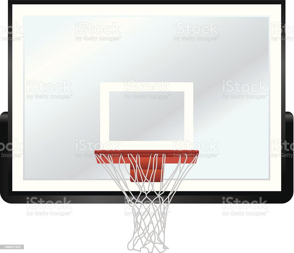 Basketball Rim and Backboard vector art illustration