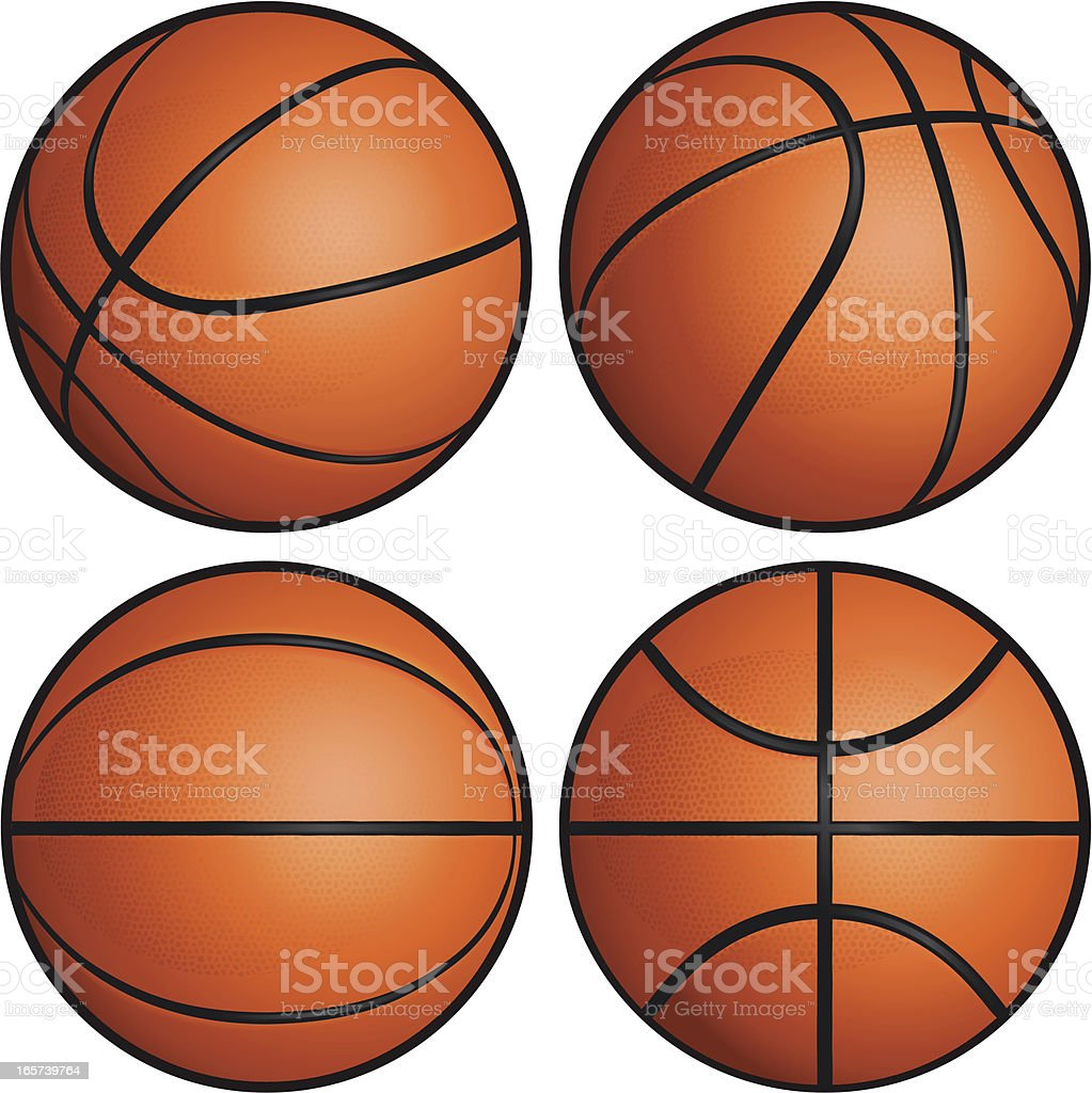 Basketball Set vector art illustration