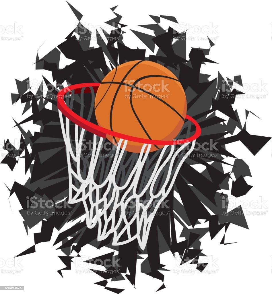 Basketball Shot and Hoop, Score vector art illustration