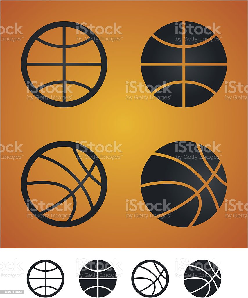 Basketball sign royalty-free stock vector art