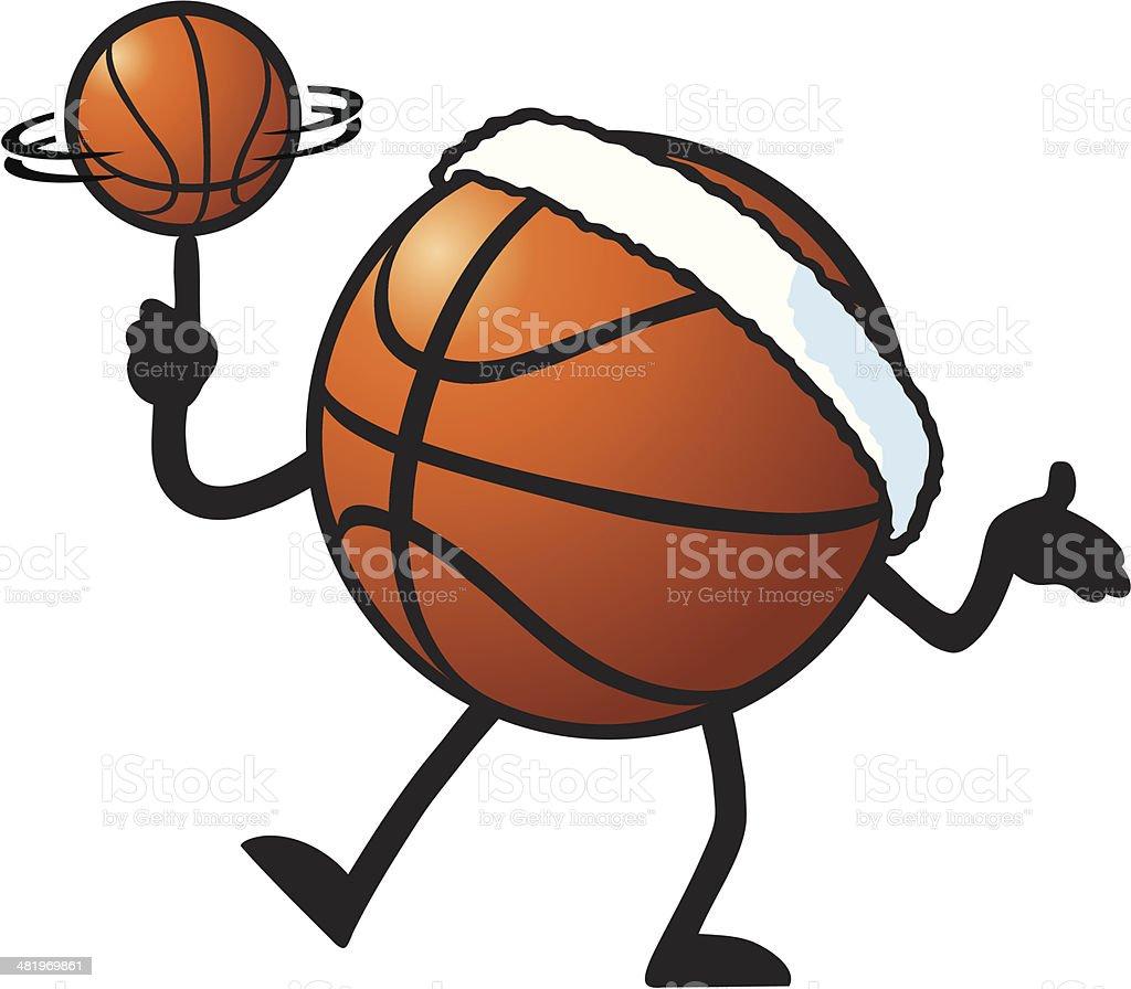 Basketball Spinner vector art illustration