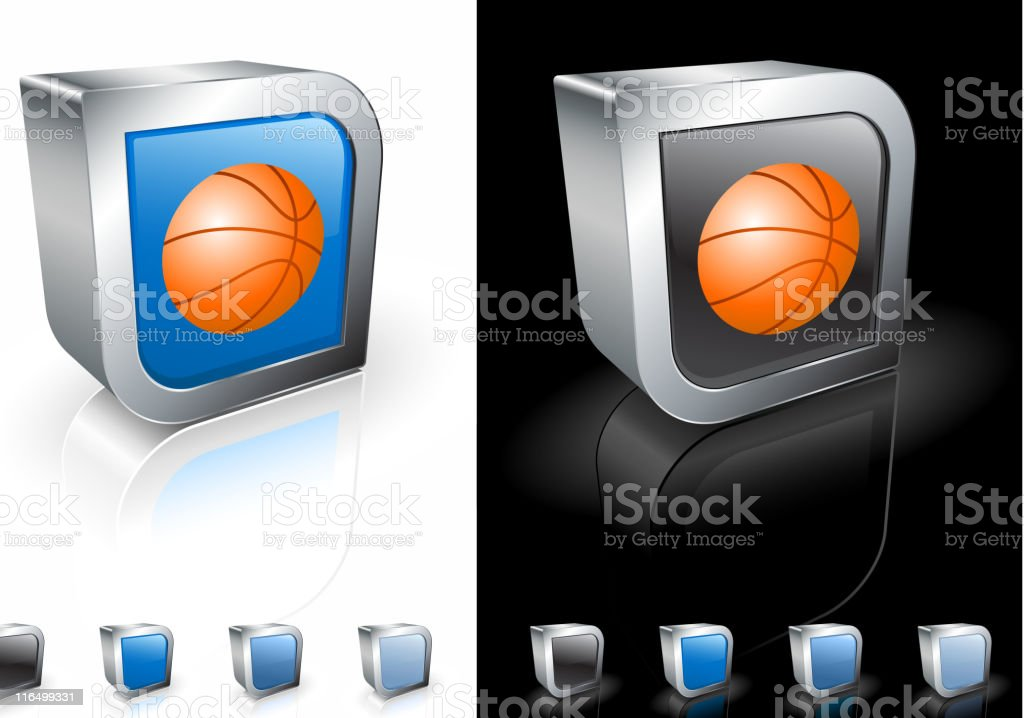basketball square royalty free vector art royalty-free stock vector art