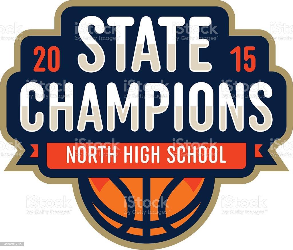 Basketball State Champions vector art illustration