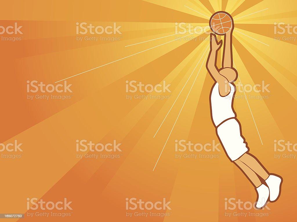 Basketball theme royalty-free stock vector art