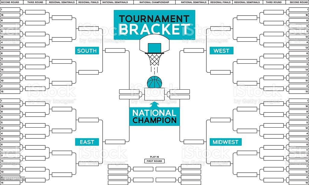 Basketball Tournament Bracket vector art illustration