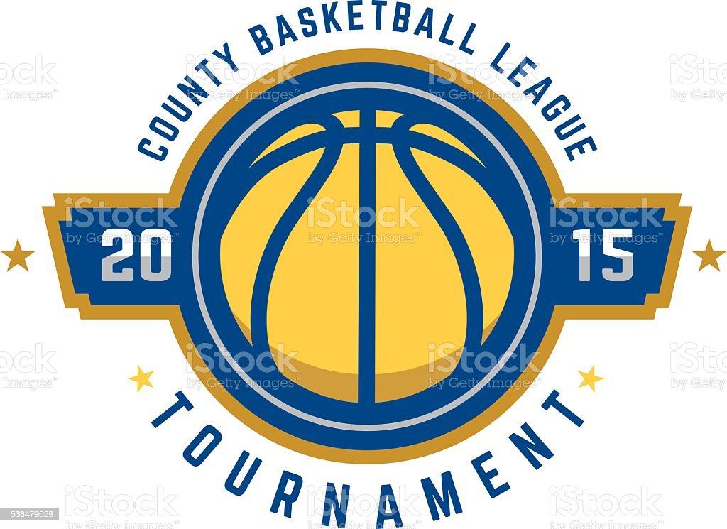 Basketball Tournament Logo vector art illustration