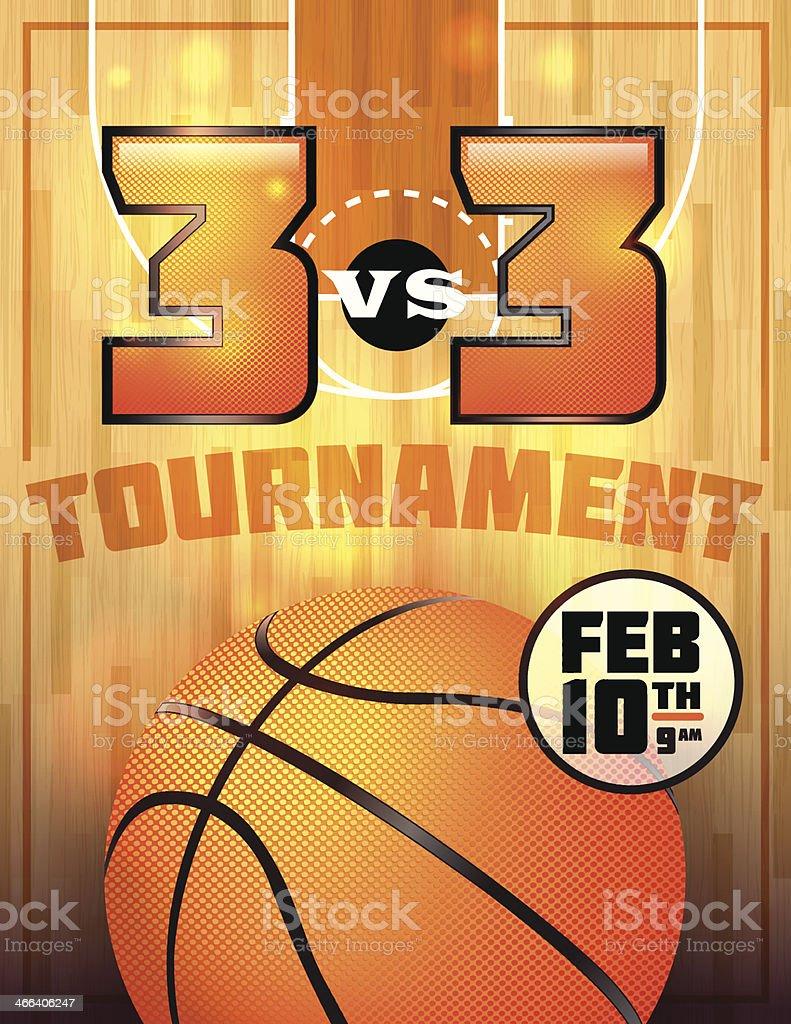 Basketball Tournament Poster vector art illustration
