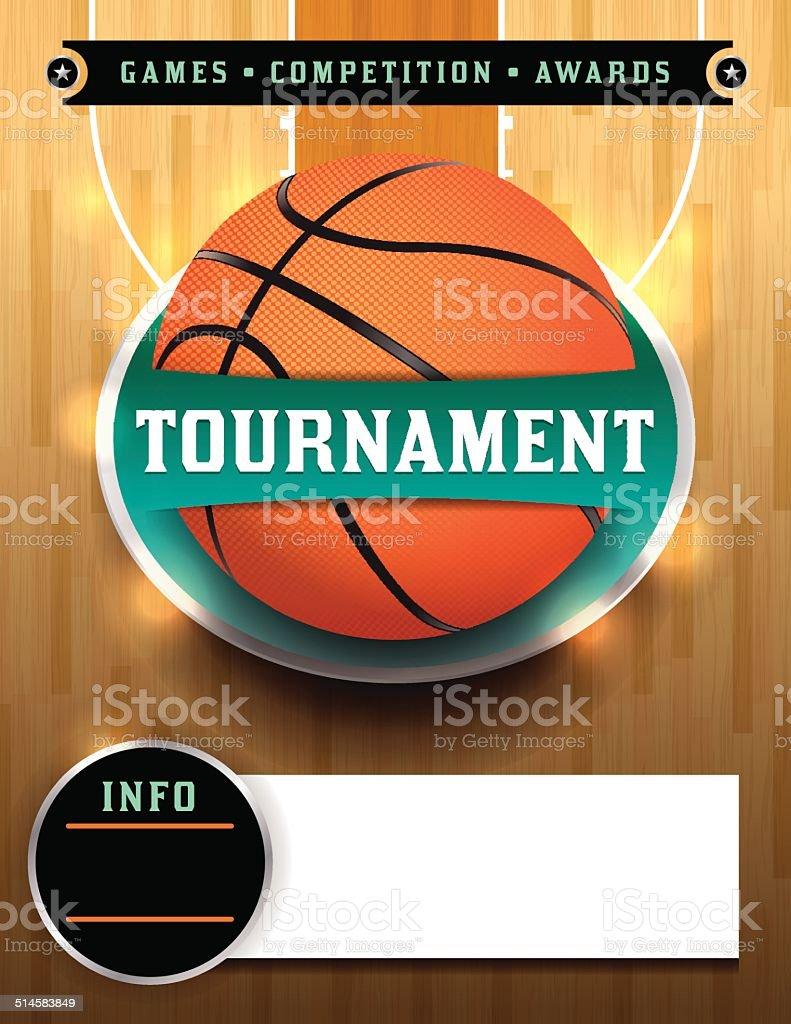 Basketball Tournament Template vector art illustration