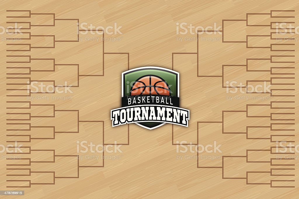 Basketball Tournament royalty-free stock vector art