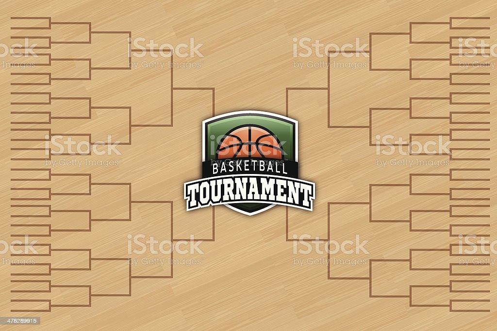 Basketball Tournament vector art illustration