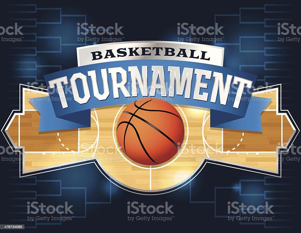 Basketball Tournament royalty-free stock vector art