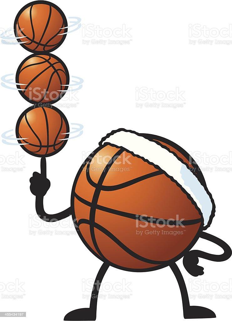 Basketball Trick vector art illustration
