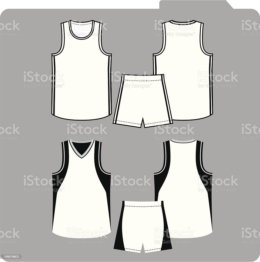 Basketball uniform royalty-free stock vector art