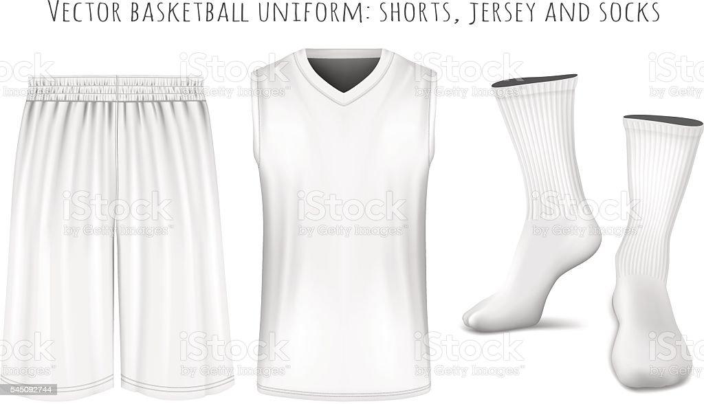 Basketball uniform vector templates vector art illustration