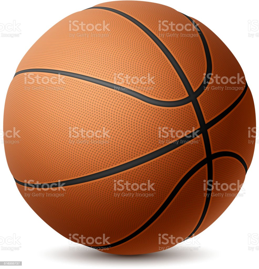 Basketball vector art illustration