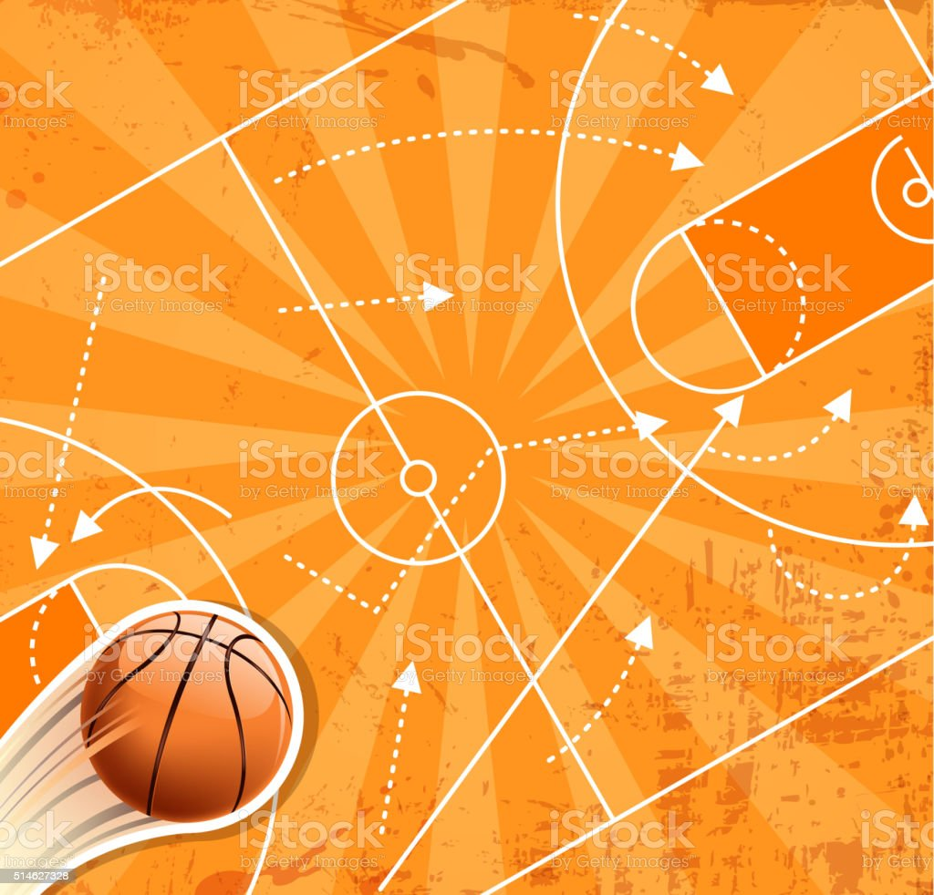 basketball winner planning vector art illustration