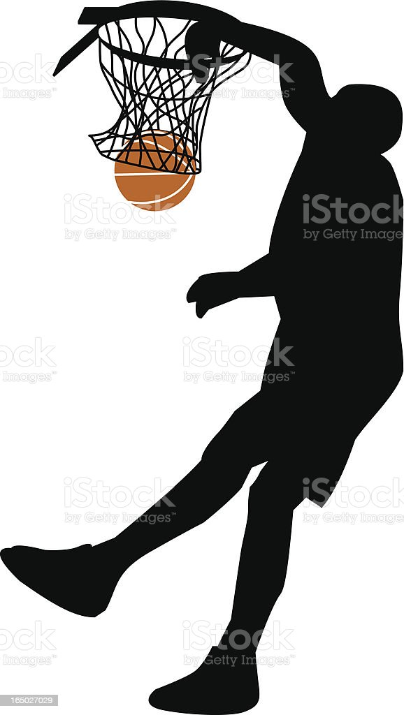 Basketball with ball vector art illustration