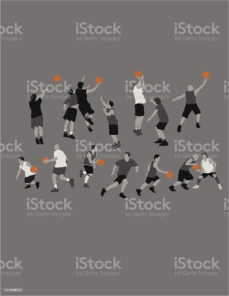 Basketball1 vector art illustration