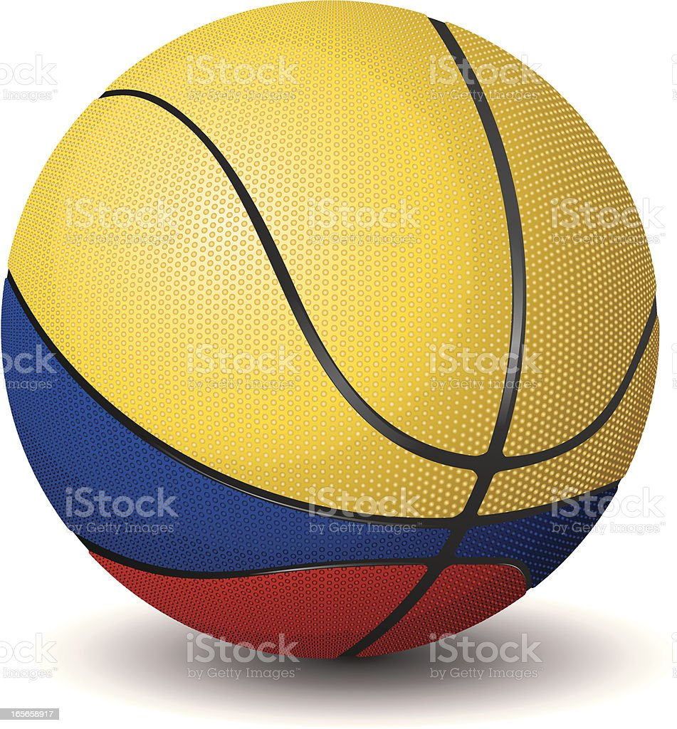 Basketball-Colombia royalty-free stock vector art