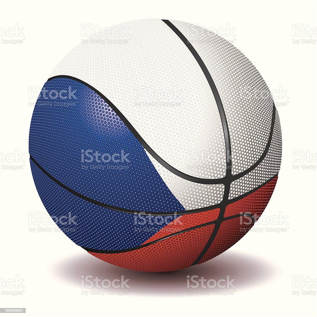 Basketball-Czech Republic royalty-free stock vector art
