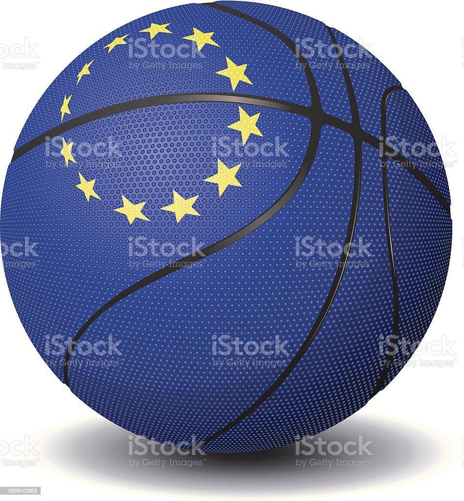 Basketball-European Union royalty-free stock vector art