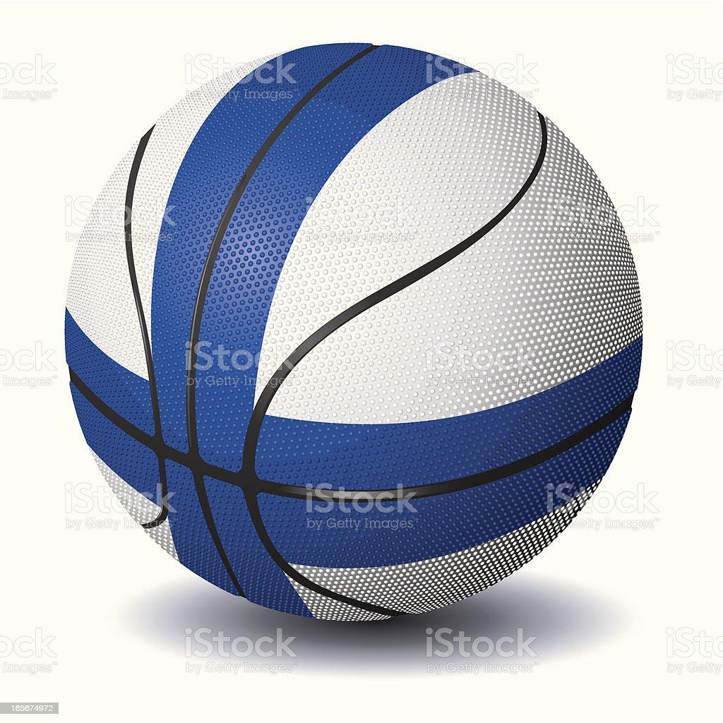 Basketball-Finland royalty-free stock vector art