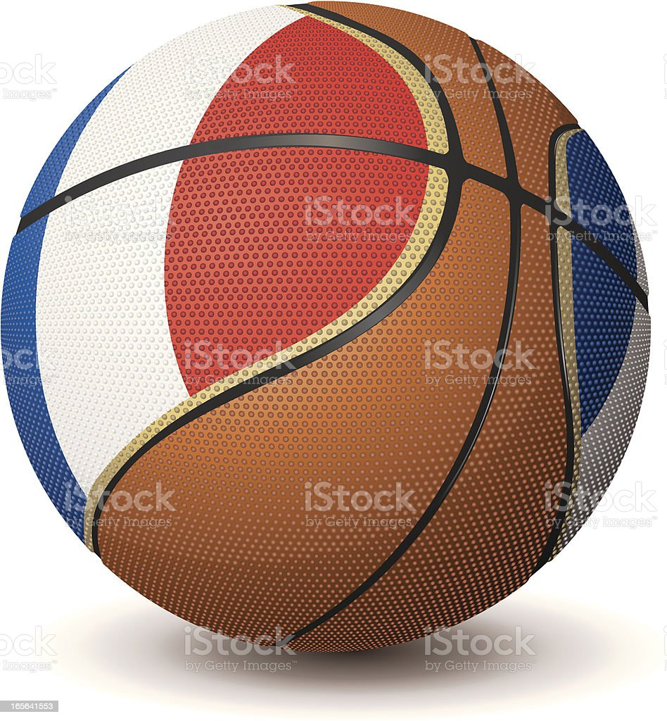 Basketball-France1 royalty-free stock vector art