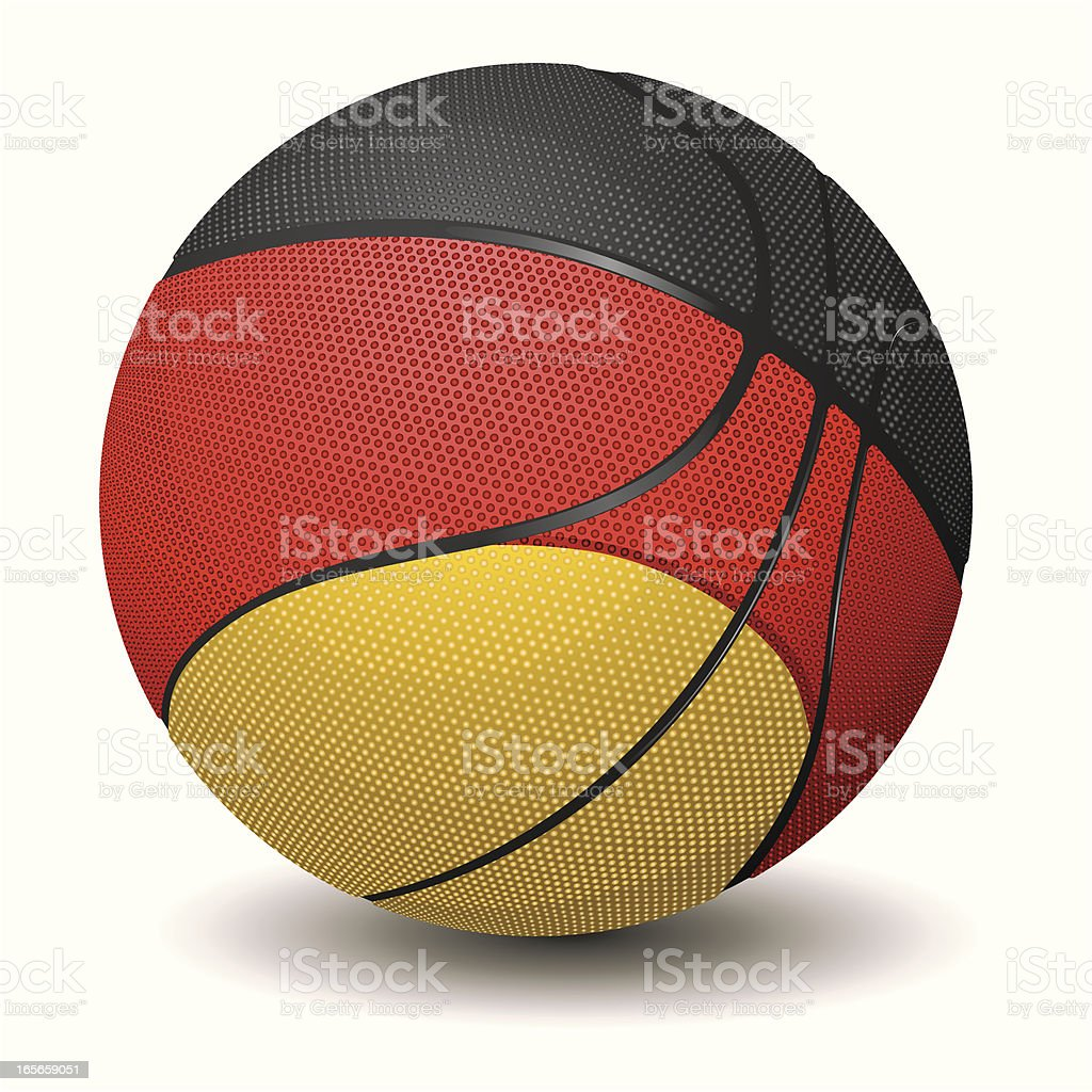 Basketball-Germany royalty-free stock vector art