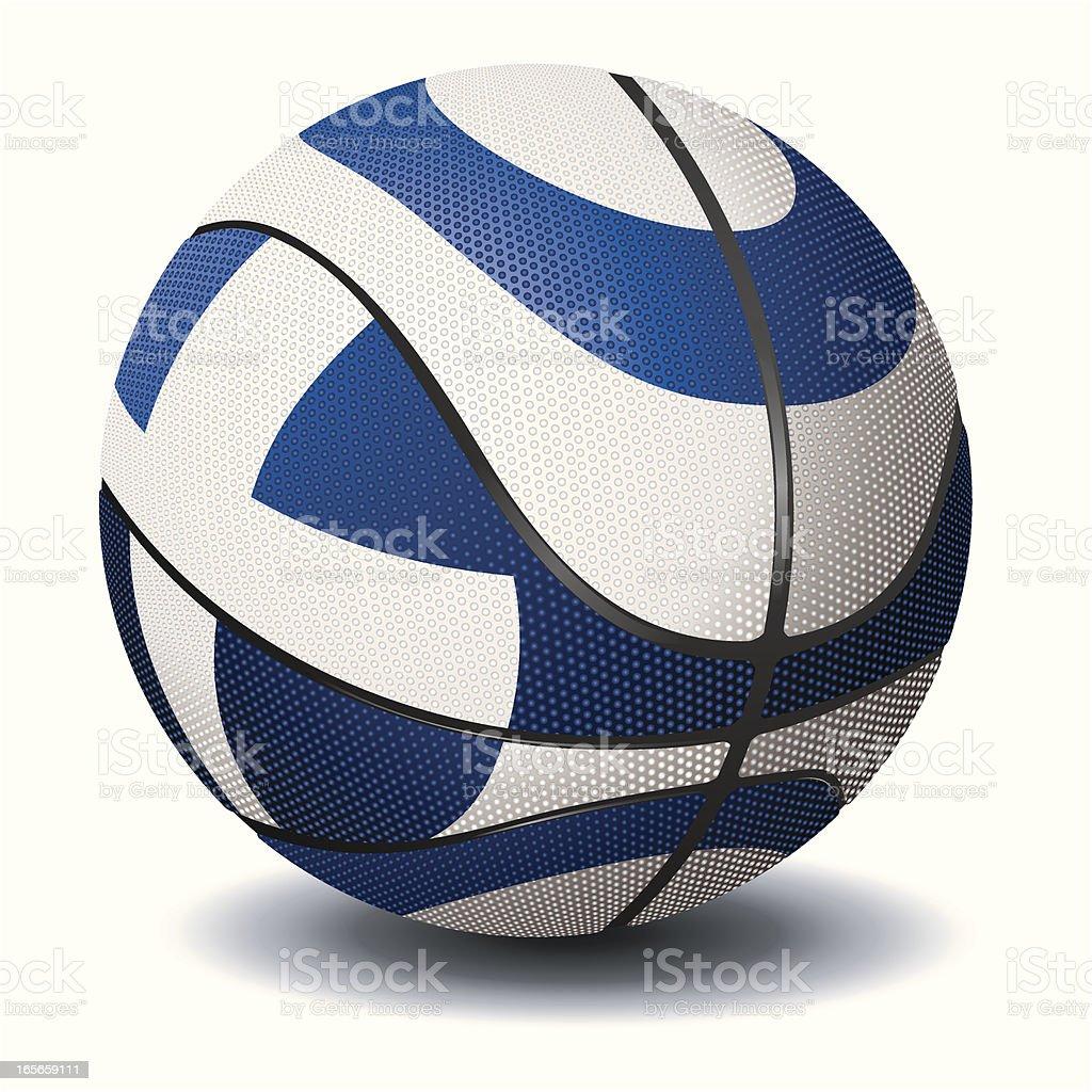 Basketball-Greece royalty-free stock vector art