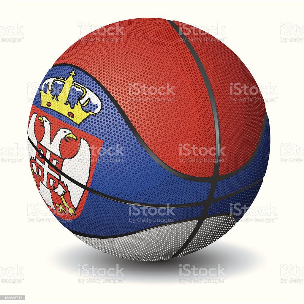 Basketball-Serbia royalty-free stock vector art