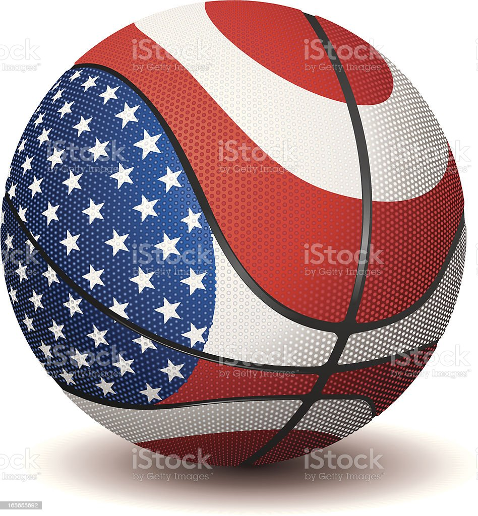 Basketball-United States royalty-free stock vector art