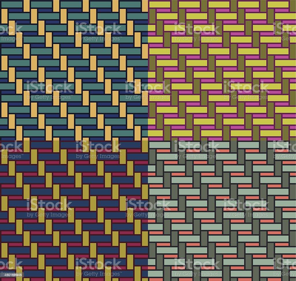 basketwork pattern 04 vector art illustration