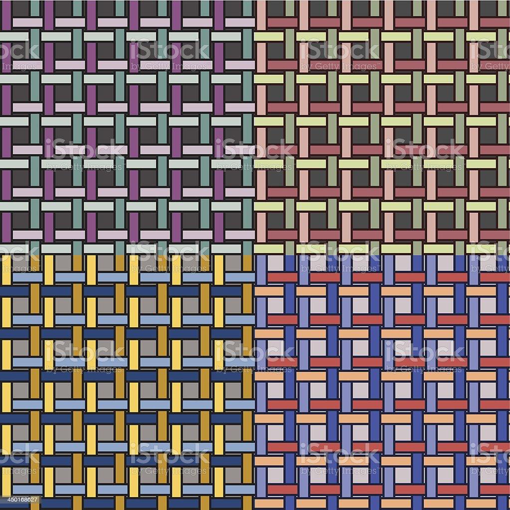 basketwork pattern 05 vector art illustration