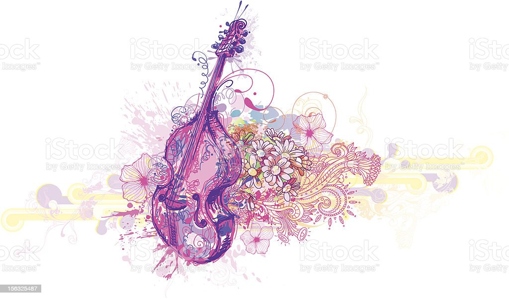 Bass Design vector art illustration