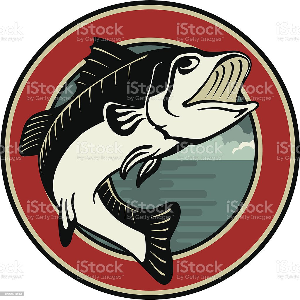 bass emblem royalty-free stock vector art