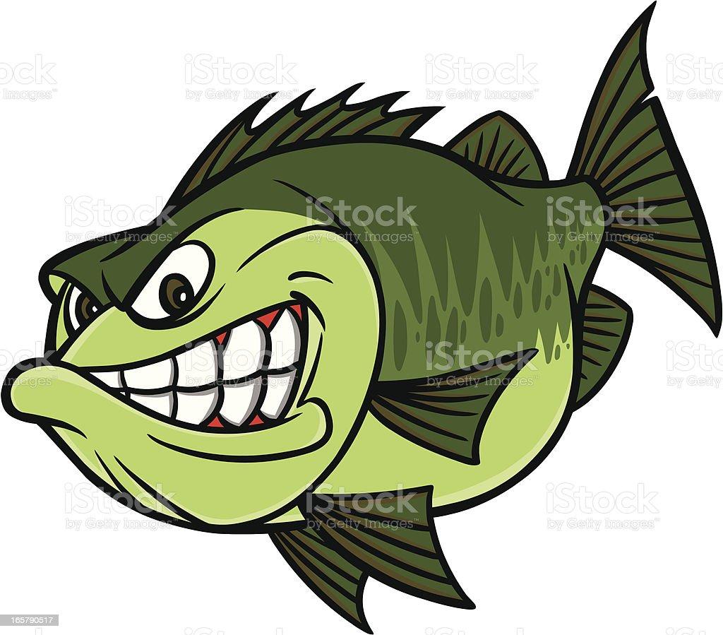 Bass Fishing Mascot vector art illustration