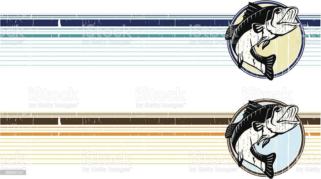 bass grunge band vector art illustration