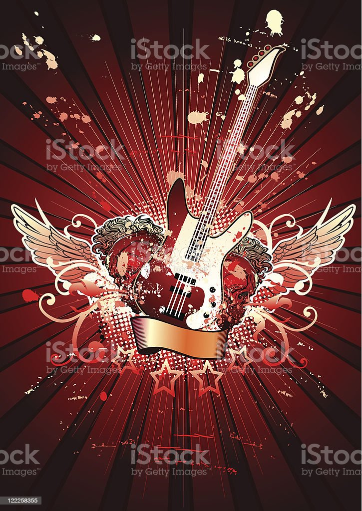 Bass guitar royalty-free stock vector art