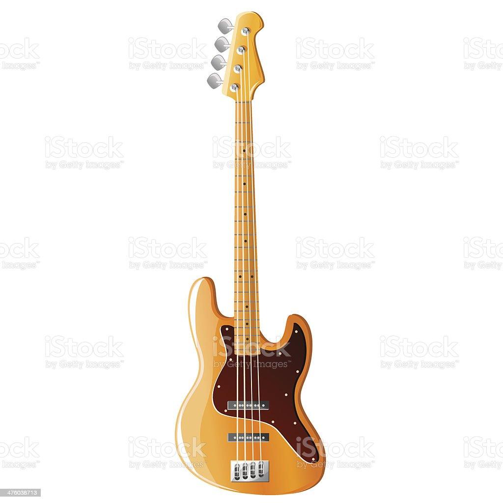 Bass guitar, vector illustration vector art illustration