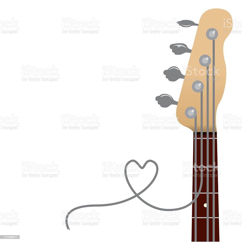 Bass Love vector art illustration