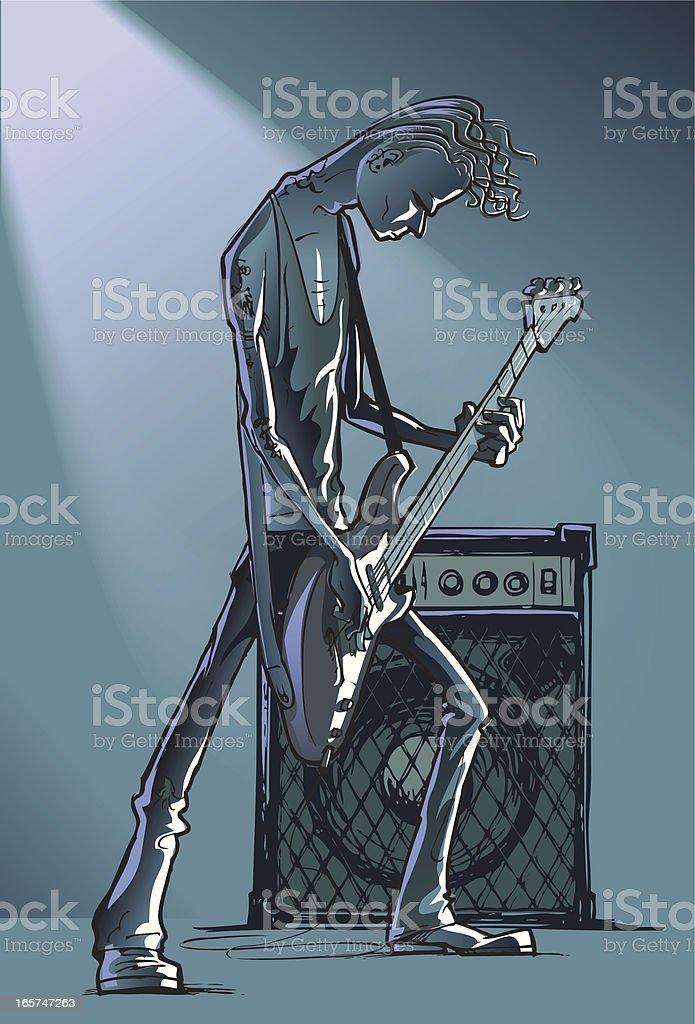 Bass player royalty-free stock vector art