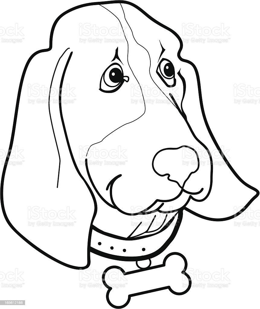 Bassett Hound Cartoon royalty-free stock vector art