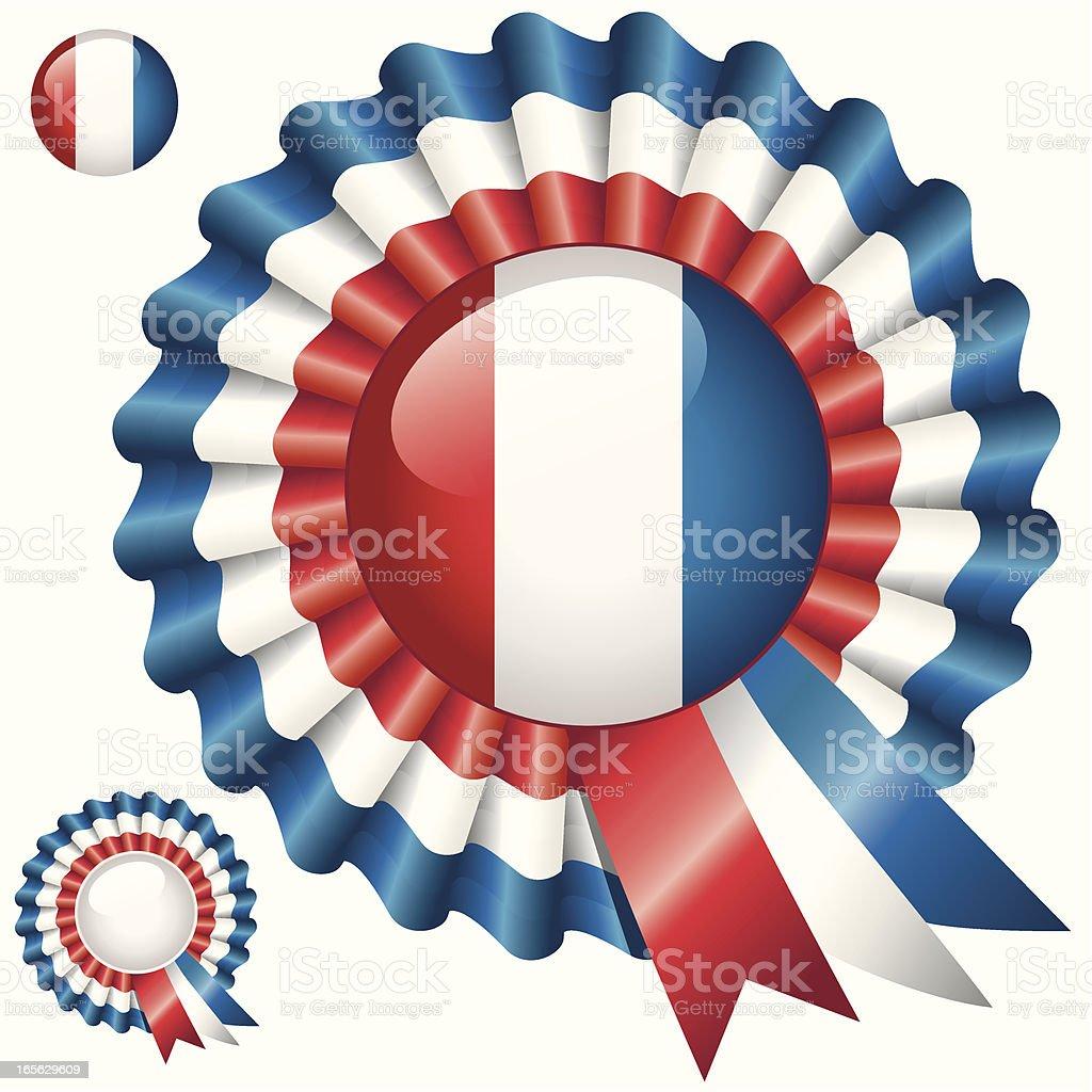 Bastille Day Rosette royalty-free stock vector art