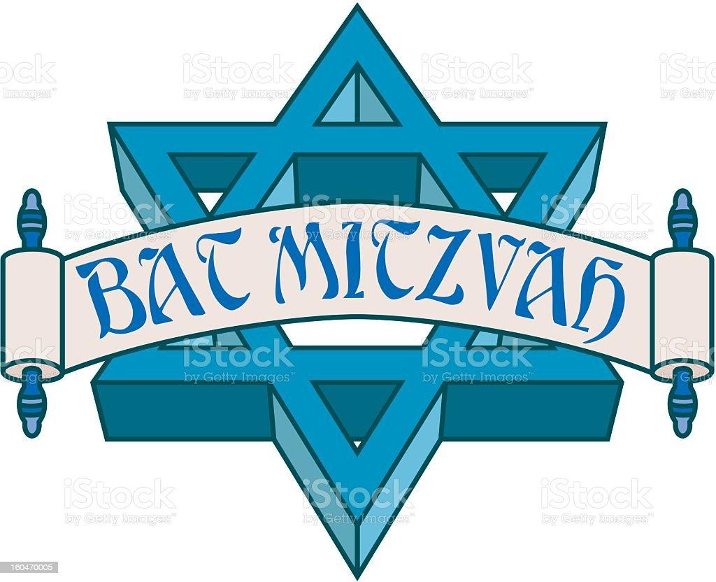 Bat Mitzvah Icon royalty-free stock vector art
