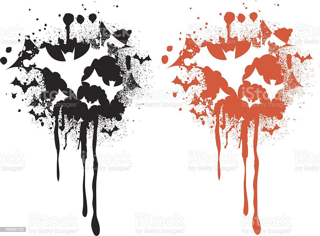 bat splatter royalty-free stock vector art