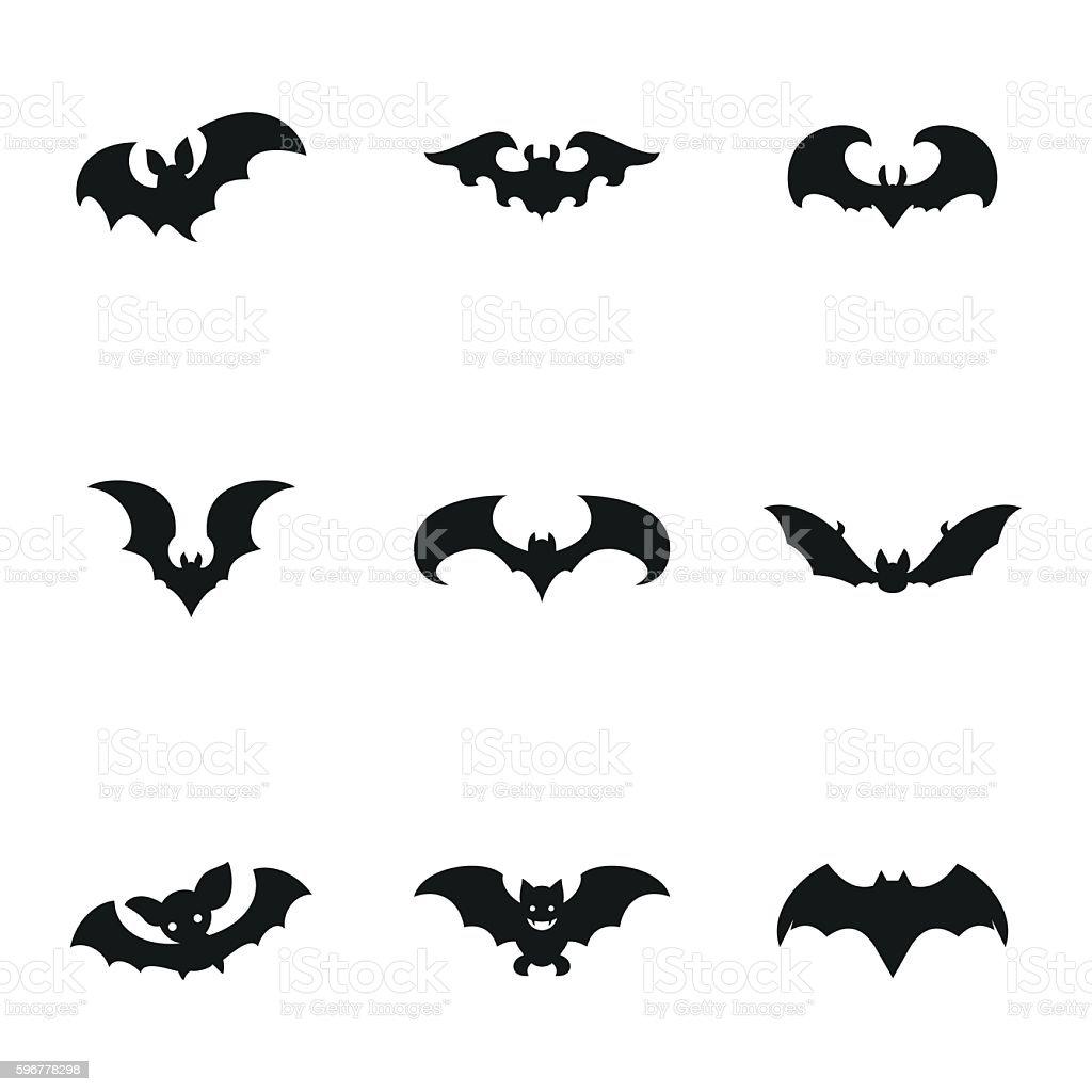 Bat vector icons vector art illustration