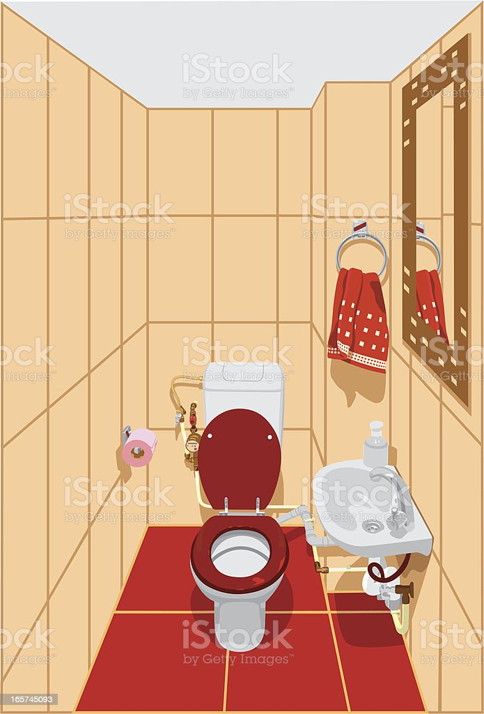 Bath interior vector art illustration